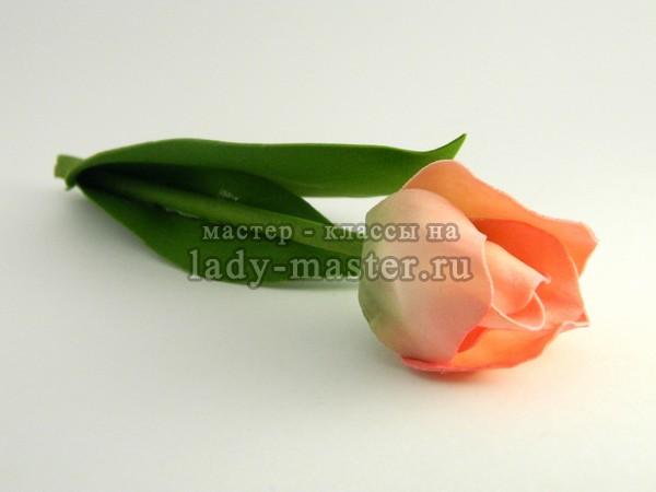 Тюльпаны из фоамирана мастер класс с пошаговым фото