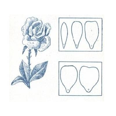 Цветы из гофрированной бумаги схемы розы