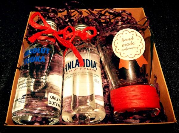 Мужской подарок с алкоголем