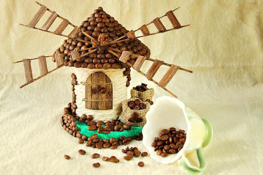 Домик из кофейных зерен мастер класс