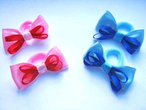 Бантики резиночки с ленточек своими руками