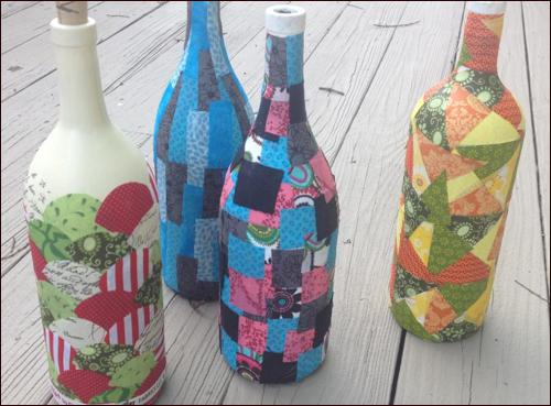 Декупаж бутылок салфетками своими руками 556