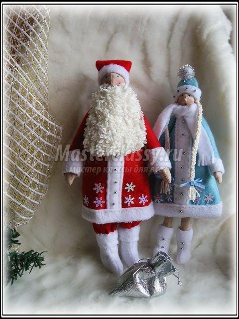 Сшить деда мороза и снегурочку своими руками выкройка