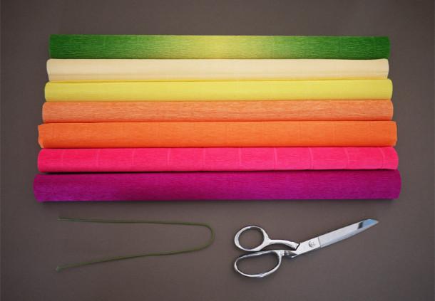 Пионы из конфет бумаги мастер класс