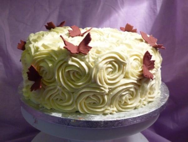 Как украшать торт фото шприцом
