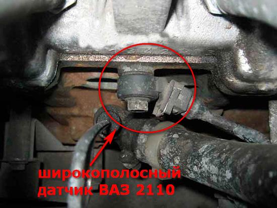 Где находится датчик детонации ваз 2110