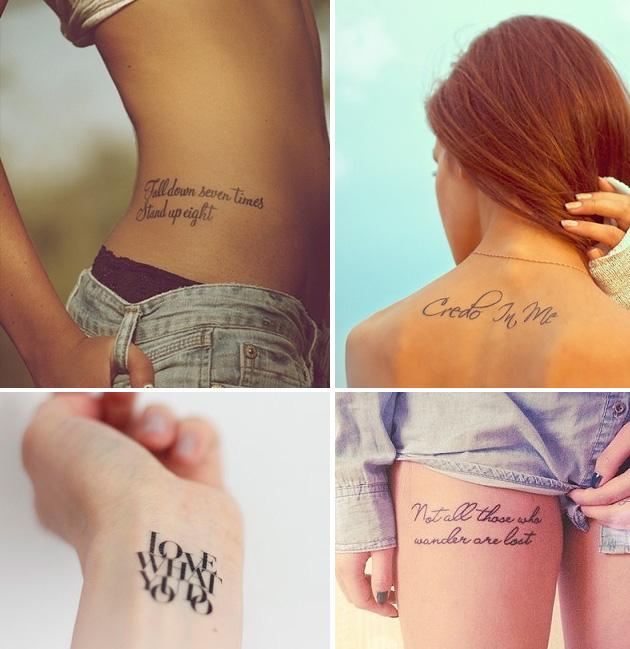 Как сделать надпись для тату