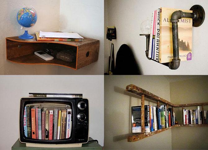 Книжные полки своими руками - креативые идеи для любого интерьера!