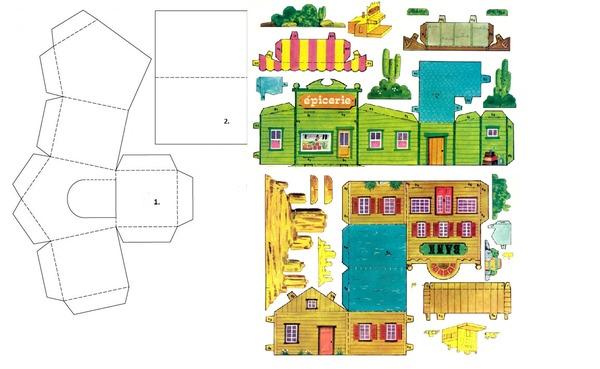 макет и схема домов