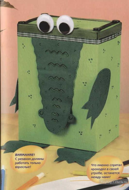 Поделки из коробки из под сока животные