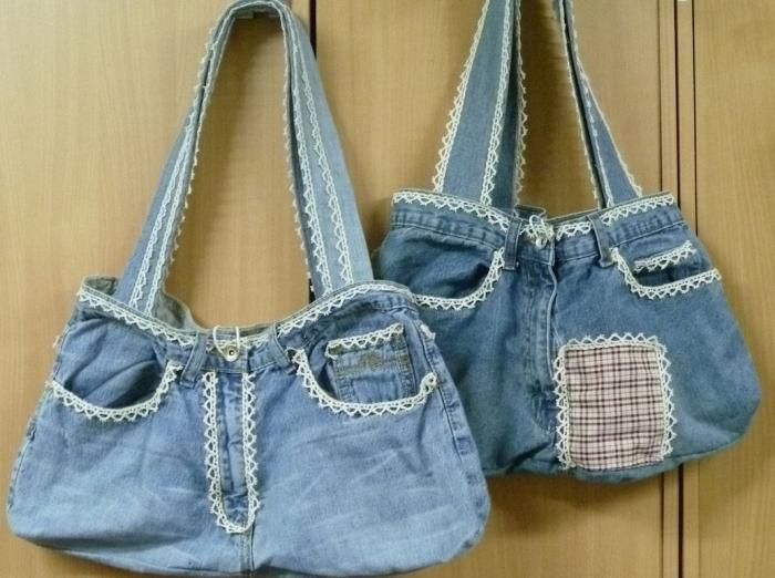 e85964fc Как сшить сумку из старых джинсов (несколько новых моделей)