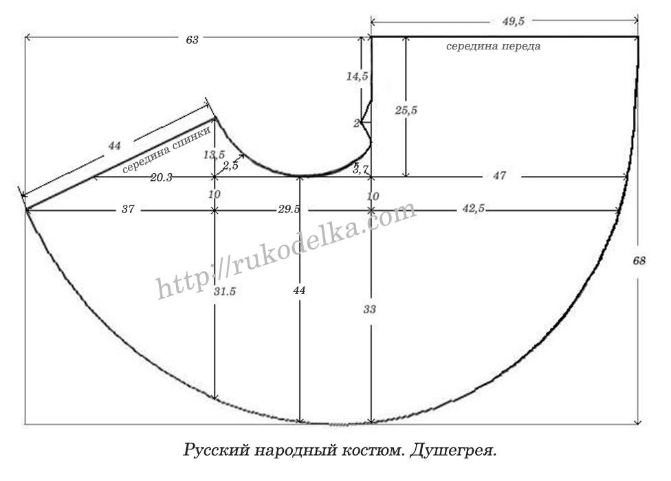 Как сшить народный костюм русский народный 100
