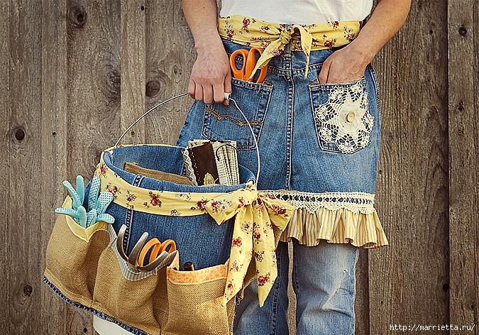 0700e95cb448 Фартуки из старых джинсов. Идеи и мастер-классы