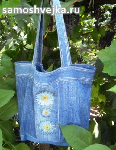 961f67a540d4 Простая сумка из старых джинсов - смотреть видео (видео)