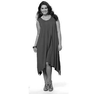 bb42f5d5709 Летнее платье без рукавов для полных женщин